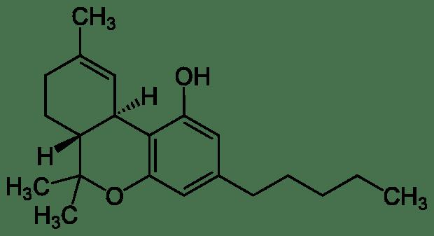 Молекула тетрагидроканнабинола