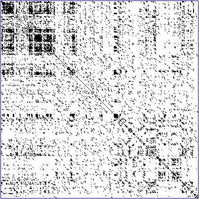 Реальная точечная матрица последовательности белка