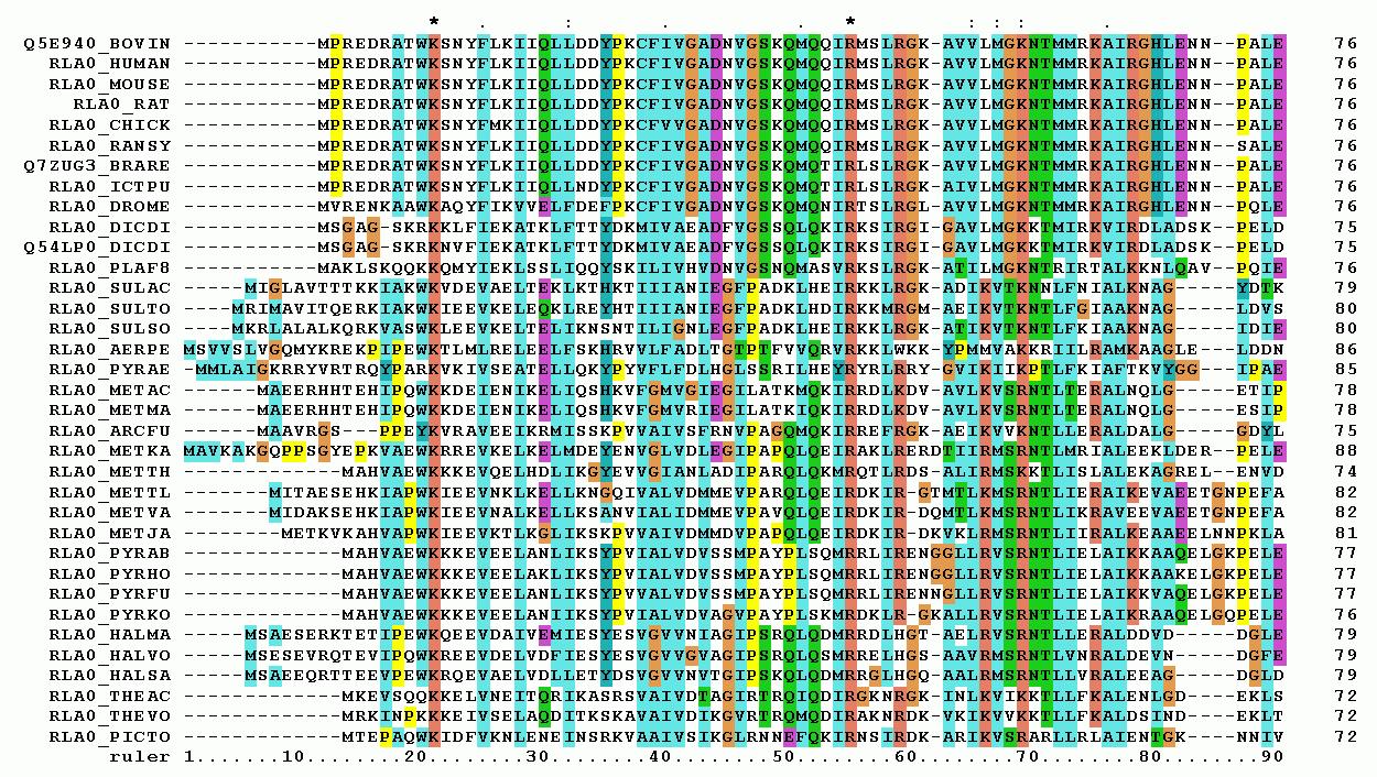 Пример множественного выравнивания последовательносте