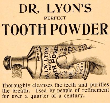 Реклама зубного порошка