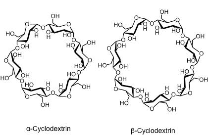 Альфа- и бета-формы циклодекстринов