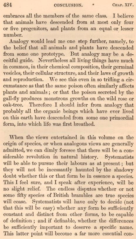 Страница из книги Чарльза Дарвина